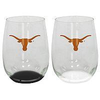 Texas Longhorns 2-Pack Stemless Wine Glass Set