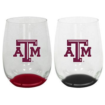 Texas A&M Aggies 2-Pack Stemless Wine Glass Set