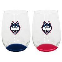 UConn Huskies 2-Pack Stemless Wine Glass Set