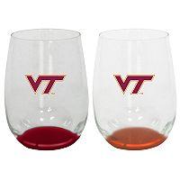 Virginia Tech Hokies 2-Pack Stemless Wine Glass Set
