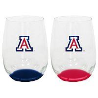 Arizona Wildcats 2-Pack Stemless Wine Glass Set