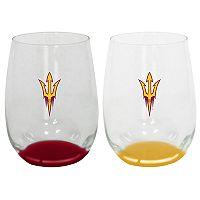 Arizona State Sun Devils 2-Pack Stemless Wine Glass Set