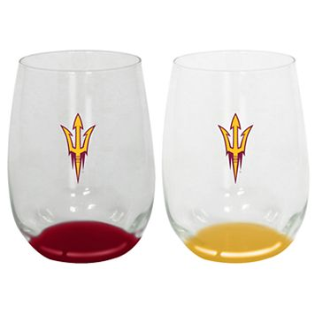 Arizona State Sun Devils 2-Pack Stemless Wine Glass Set