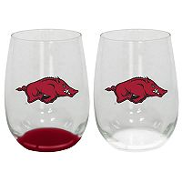 Arkansas Razorbacks 2-Pack Stemless Wine Glass Set