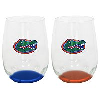 Florida Gators 2-Pack Stemless Wine Glass Set