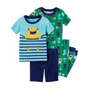 Baby Boy Carter's 4-pc. Monsters Tops & Pants Pajama Set