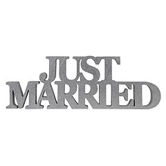 Sheffield Home 'Just Married' Block Letter Table Decor