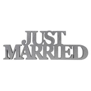 "Sheffield Home ""Just Married"" Block Letter Table Decor"