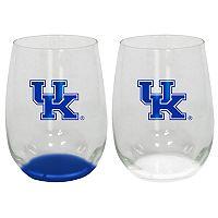Kentucky Wildcats 2-Pack Stemless Wine Glass Set