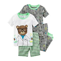 Baby Boy Carter's 4 pc Bear Scientist Pajamas Set