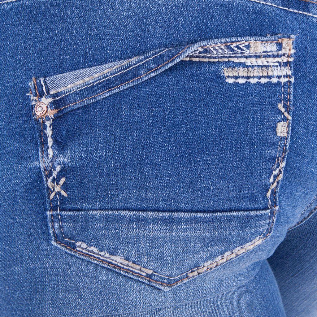 Juniors' Amethyst Rolled Skinny Jeans