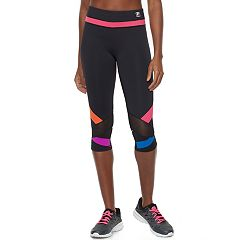 Women's FILA SPORT® Mesh Color Block Capri Leggings