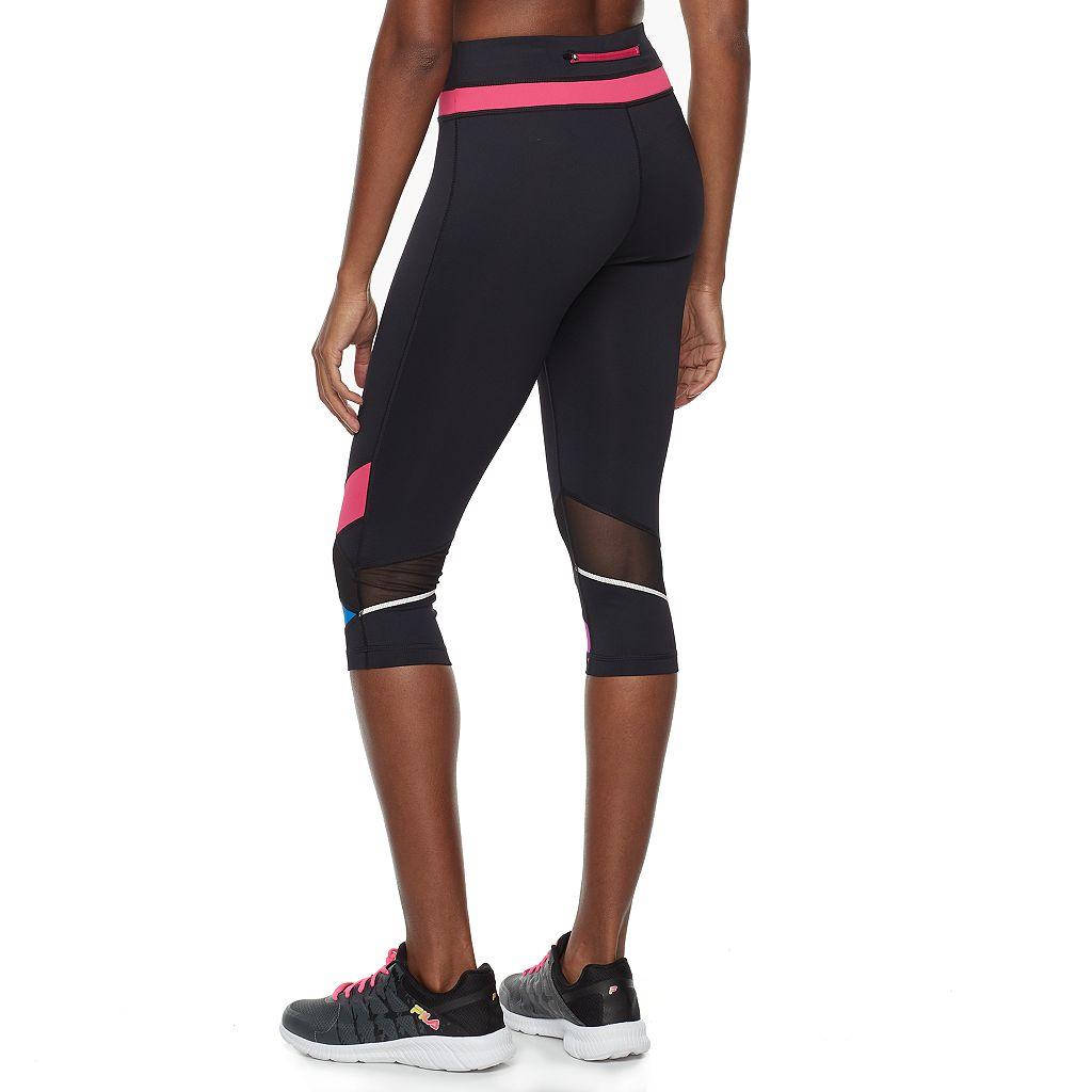 Women's FILA SPORT® Mesh Color Block Capri Leggings
