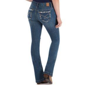 Juniors' Amethyst Destructed Baby Bootcut Jeans
