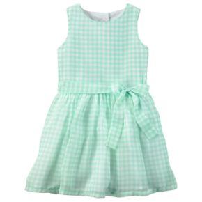 Toddler Girl Carter's Gingham Bow Dress