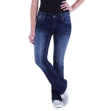 Juniors' Amethyst Curvy Baby Bootcut Jeans