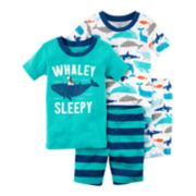"Baby Boy Carter's ""Whaley Sleepy"" Whale Top & Shorts Pajama Set"