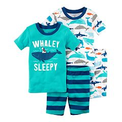 Baby Boy Carter's 'Whaley Sleepy' Whale Top & Shorts Pajama Set