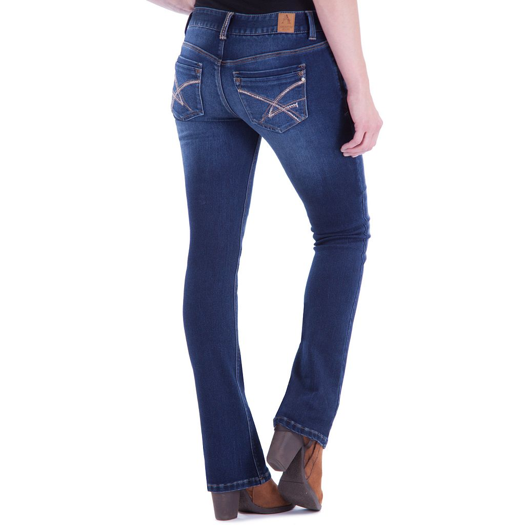 Juniors' Amethyst Baby Bootcut Jeans
