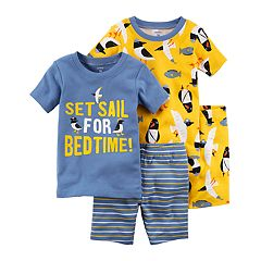 Baby Boy Carter's 'Set Sail For Bedtime' Seagull & Fish Print Tops & Shorts Pajama Set