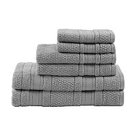 Madison Park Essentials 6 pc Remy Super Soft Bath Towel Set