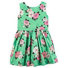 Toddler Girl Carter's Floral Sateen Dress