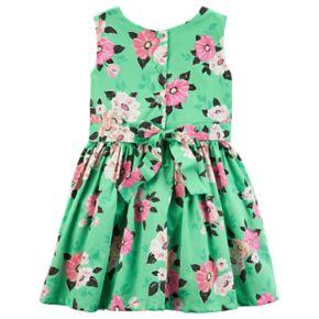 Toddler Girl Carter's Floral Sateen Dress