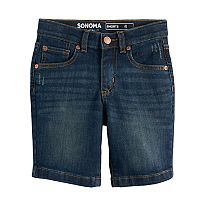 Boys 4-7x SONOMA Goods for Life™ Dark Wash Denim Shorts