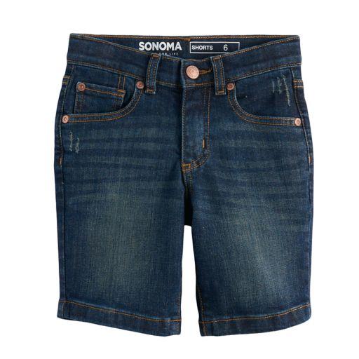 Boys 4-7x SONOMA Goods for Life™ Dark Wash Denim Shorts