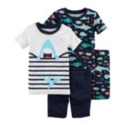 Baby Boy Carter's Shark Tops & Shorts Pajama Set