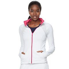 Women's FILA SPORT® Contrast Zipper Thumb Hole Jacket