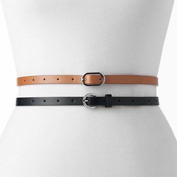 Women's SONOMA Goods for Life™ 2-for-1 Skinny Belt Set
