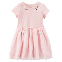 Toddler Girl Carter's Rhinestone Jersey Dress