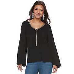 Women's Jennifer Lopez Embellished Peasant Top