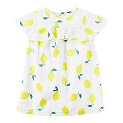 Toddler Girl Carter's Lemon Ruffle Dress