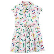 Toddler Girl Carter's Butterfly Shirt Dress