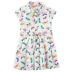Toddler Girl Carter's Butterfly Shirt Dress