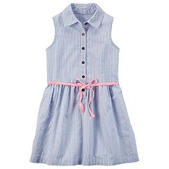 Toddler Girl Carter's Button-Front Embroidered Dress
