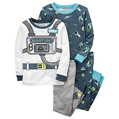 Baby Boy Carter's 4 pc Space 'Blast Off' Tops & Pants Pajama Set