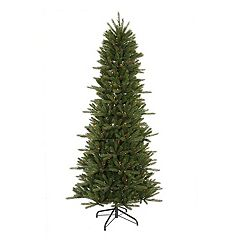 4.5-ft. Pre-Lit Slim Vermont Fir Artificial Christmas Tree
