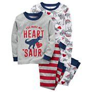 Baby Boy Carter's 4 pc Dinosaur 'You Make My Heart Saur' Pajamas Set