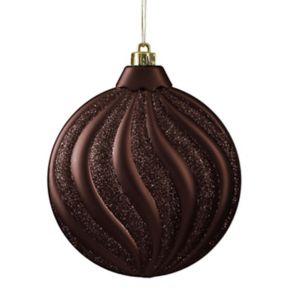 Shatterproof Round Swirl Christmas Ornament 6-piece Set
