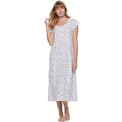Women's Croft & Barrow® Pajamas: Knit Short Sleeve Nightgown
