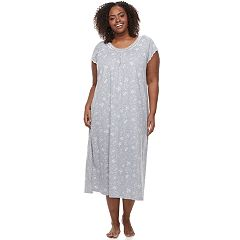 Plus Size Croft & Barrow® Pajamas: Knit Short Sleeve Nightgown