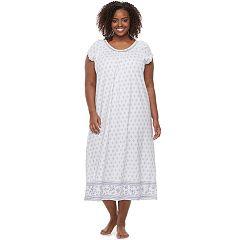 Plus Size Croft & Barrow® Pajamas: Knit Short Sleeve Nightgown