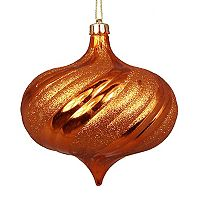 Shatterproof Round Swirl Christmas Ornament 4 pc Set