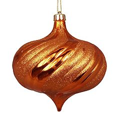 Shatterproof Round Swirl Christmas Ornament 4-piece Set