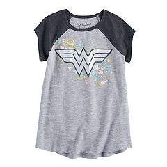 Girls 4-10 Jumping Beans® DC Comics Wonder Woman Iridescent Raglan Graphic Tee