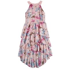 Girls 7-16 My Tiered Ruffle High-Low Dress