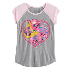 Girls 4-10 Jumping Beans® Shopkins Heart Raglan Tee